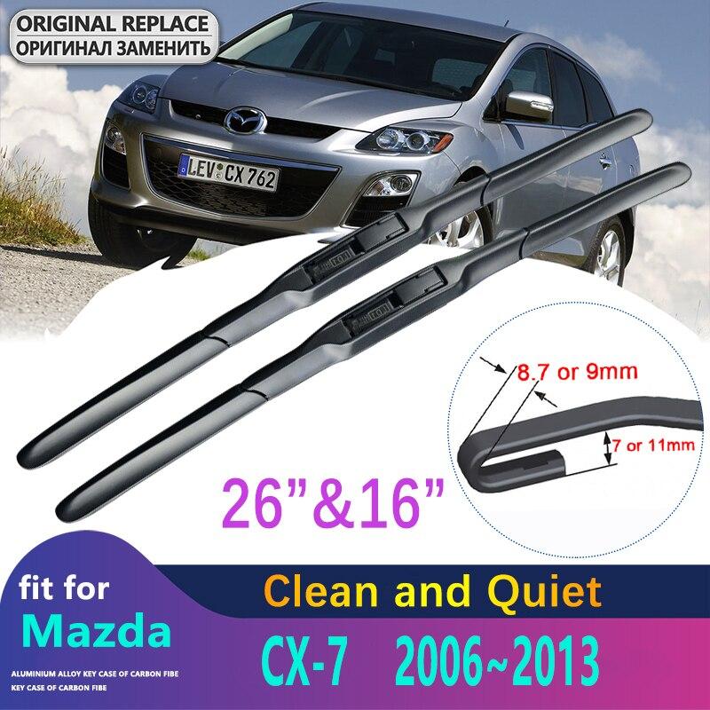 Front Wiper Blades For Mazda CX-7 CX7 CX 7 2006 2007 2008 2009 2010 2011 2012 2013 Accessories Auto Car Windscreen Wipers Clean