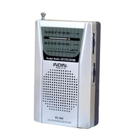 bc r60 mini portable high performance am fm radio receiver speaker telescopic antenna 3 5mm earphone jack without battery