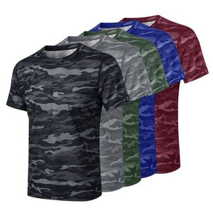 Summer Men Quick Dry Short Sleeve Running Shirt Sport Gym Fitness Loose T-Shirt Breathable Compression Shirts Casual Top