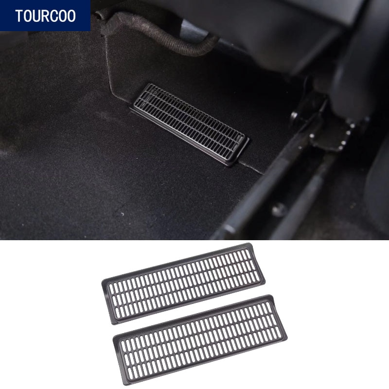 For Tesla Model Y Air Outlet Cover Under Seat Vent Outlet Dust Cover Car Styling Interior Modificati