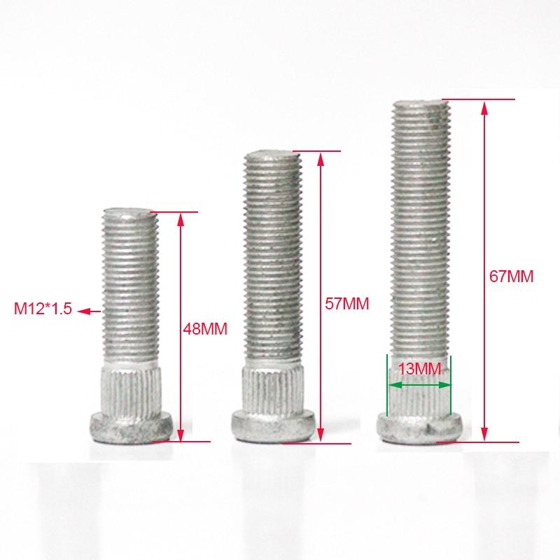 Pernos/pernos de extensión forjados de rueda Spline diameter13MM, M12 * 1,5, adecuado para Hyundai, Mazda, Ford, Kia y otros modelos