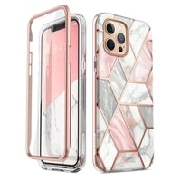 for iphone 12 pro max case 6 7 inch 2020 i blason cosmo full body glitter marble bumper case with built in screen protector