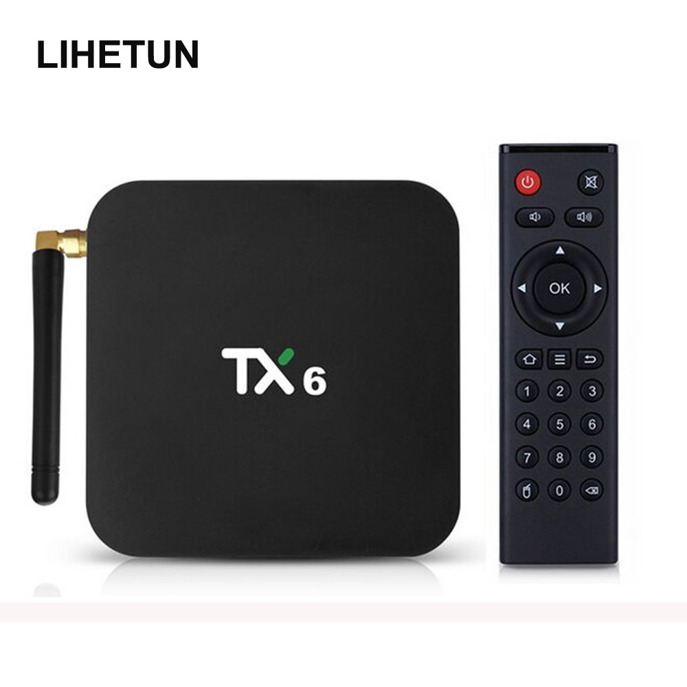 Lihetun tanix tx6 android 9.0 caixa de tv 4gb 64gb 5.8g wifi allwinner h6 quad core usd3.0 bt4.2 4k google play youtube conjunto caixa superior