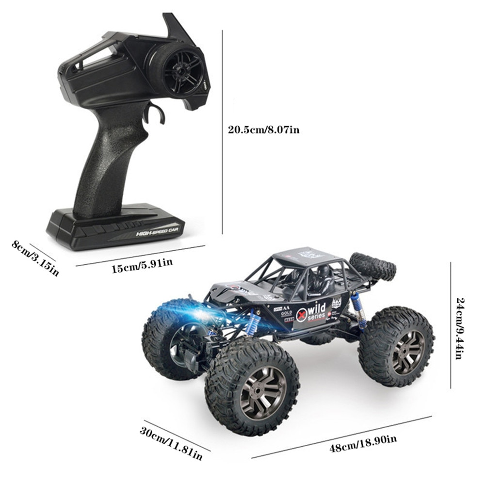 MGRC Large Off-road Vehicle 1: 8 4WD Climbing Off-road Remote Control Car Charging Big Bike Model Toys for Boys Rc Car Best Gift enlarge