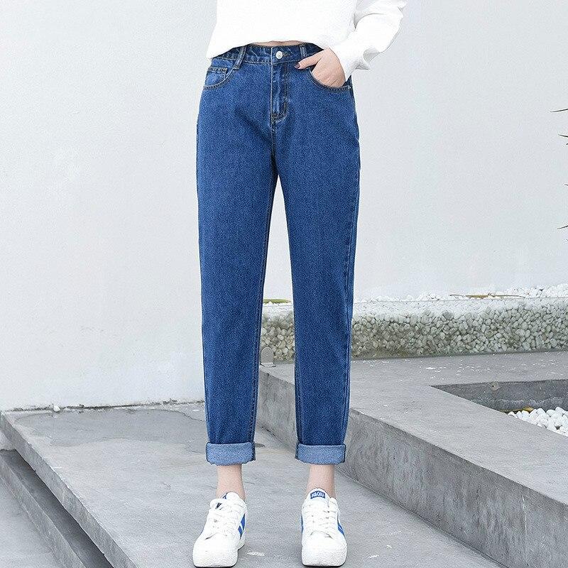 Pantalones vaqueros de cintura alta para mujer 5xl pantalones para novio negro Fashionnova ropa de calle recta elegante Top Shop ocio hasta el tobillo