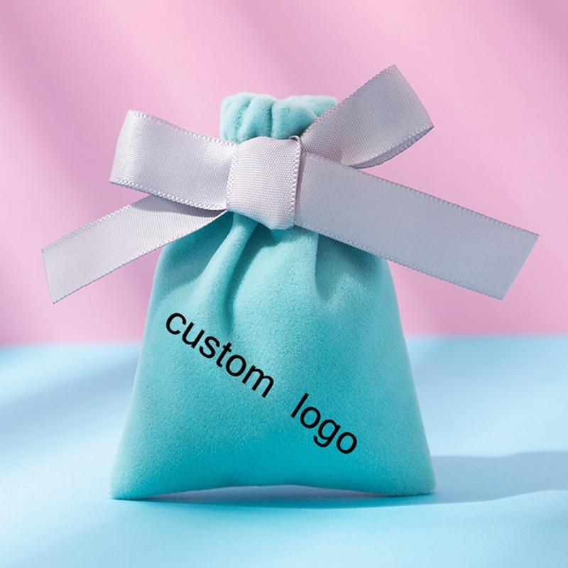 100-шт-Пользовательский-логотип-черный-бархат-по-индивидуальному-заказу-для-упаковки-ювелирных-изделий-бантом-мешки-подарка-венчания-флан