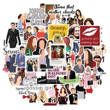 10/30/50pcs/pack Gossip Girl Classic TV Show Stickers For Furniture Wall Desk DIY Chair Toy Car Computer Decal TV Motorcycle Etc