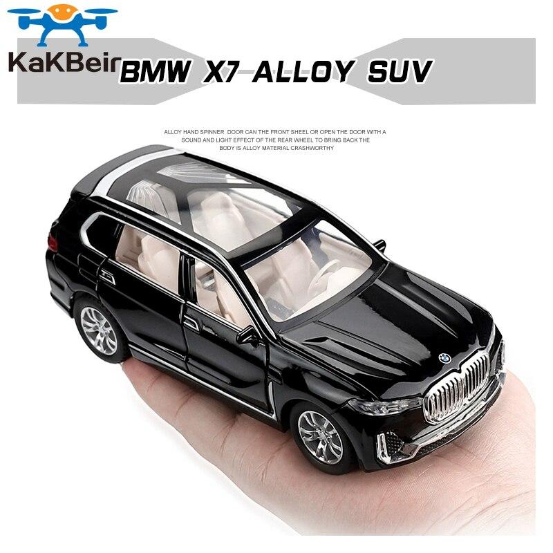 1:32 BMW X7 моделирование игрушечные машинки из сплава литья отступить модель автомобиля SUV детские игрушки внедорожные транспортные средства Аксессуары Рождественский подарок Наземный транспорт      АлиЭкспресс