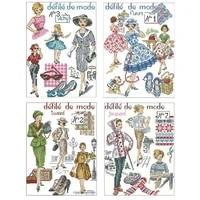fashion woman patterns counted cross stitch 11ct 14ct 18ct diy chinese cross stitch kits embroidery needlework sets home decor