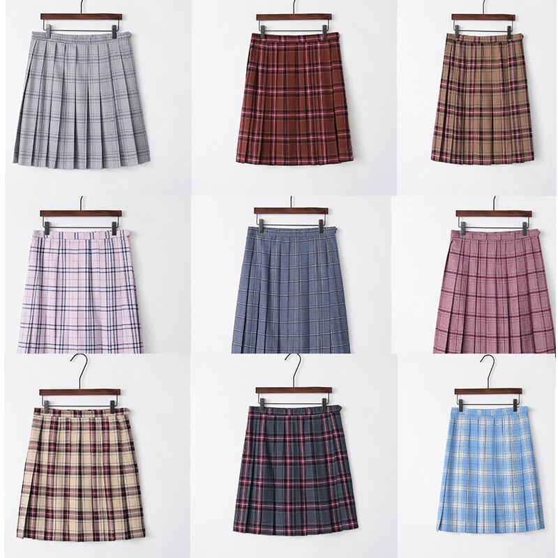 Summer plaid skirt female  high waist chic stitching student pleated skirts female cute sweet girls dance skirt jk uniform japanese collection jk skirt pleated skirt lattice skirt cute pleated half body women s short jk uniform sweet lolita dress