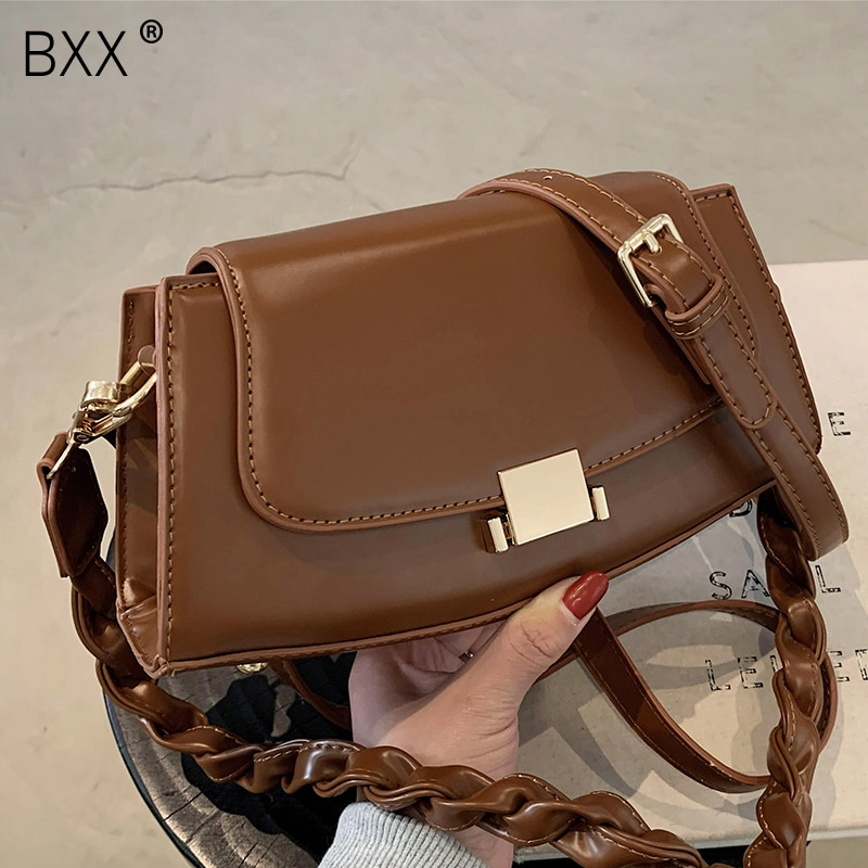 [BXX] PU Leather Small Crossbody Bags For Women 2021 Fashion High Quality Lady Travel Luxury Shoulder Handbag and Purses HQ796