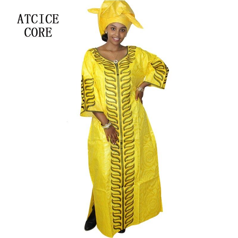 2019 vestidos africanos bazin riche diseño bordado vestidos africanos para mujeres dashiki ropa tradicional vestido largo A242 #