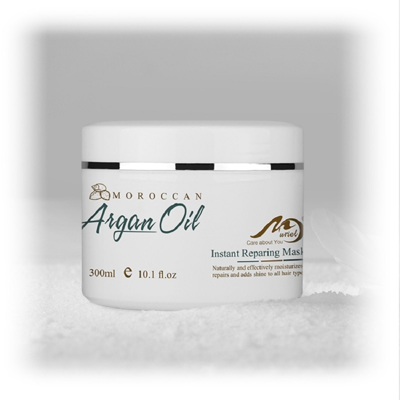 Купить с кэшбэком Hair Care Mask 300ml Magical keratin Hair Mask Moisturising Cream Morocco Argan Oil Repairs Hair Damage Restore Soft