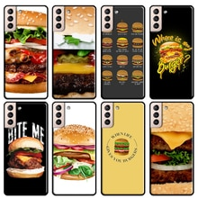 Gourmet Burger Cover For Samsung Galaxy S20 FE S8 S9 S10 Plus Note 9 10 Note 20 Ultra S21 Phone Case