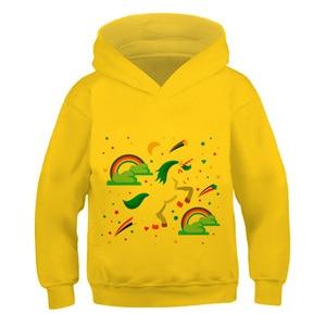 New 2021 3-14y Kid Clothes Hoodies Children Winter Spring Autumn Long Sleeves Pullo Jacket boys girls Cute Unicrn  Cool  fashio