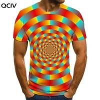 qciv dizziness t shirt men abstract tshirt printed pattern anime clothes novel t shirts 3d short sleeve t shirts cool style tops