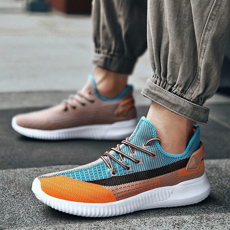 Мужская повседневная спортивная обувь, Мужская Летняя Повседневная обувь, мужская обувь на плоской подошве, Мужская Уличная обувь для бега,...