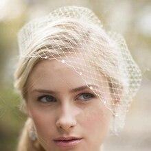 White Face VeilS for The Bride Hair Accessories Wedding Black Ivory Crystal Beaded Net Birdcage Fascinator Elegant Charming Veil
