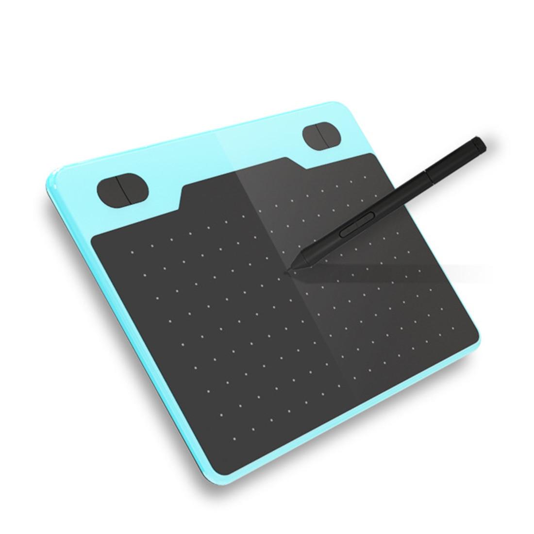 T503 لوح رسم جرافيكس خفيف الوزن محمول 8192 مستويات ضغط دفتر قطع رقمي للكمبيوتر والهاتف المحمول-أزرق
