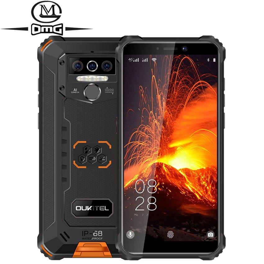 "Oukitel wp5 pro 8000mah 4g smartphone ip68 impermeável 4gb 64gb telefone móvel android 10 triplo câmera rosto/impressão digital id 5.5"""