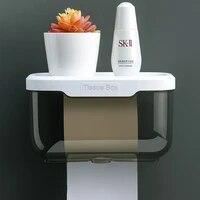 Boite de rangement en plastique etanche  porte-serviettes en papier  etagere de salle de bain murale  porte-rouleau de toilette Portable