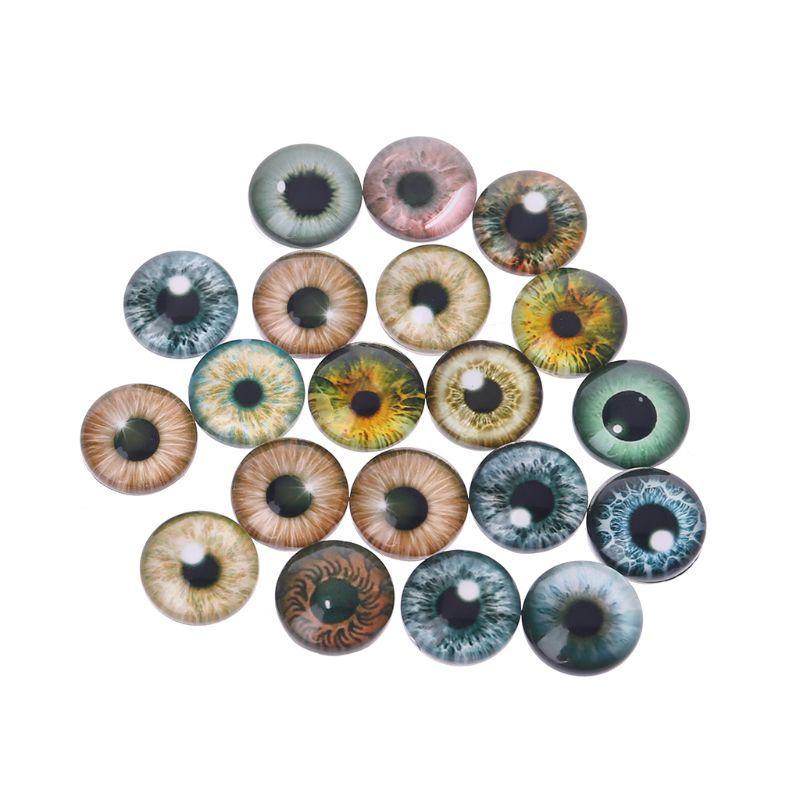 20 piezas cristal muñeco ojos animales manualidades ojos para dinosaurio ojo accesorios joyería hecha a mano 8mm/12mm/18mm