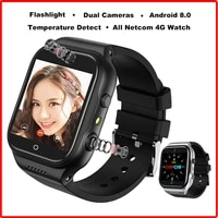 smart watch men women android 8 dual cameras battery 900mah gps wifi bluetooth smart temperature 4g watch phone for pk kw06 x89