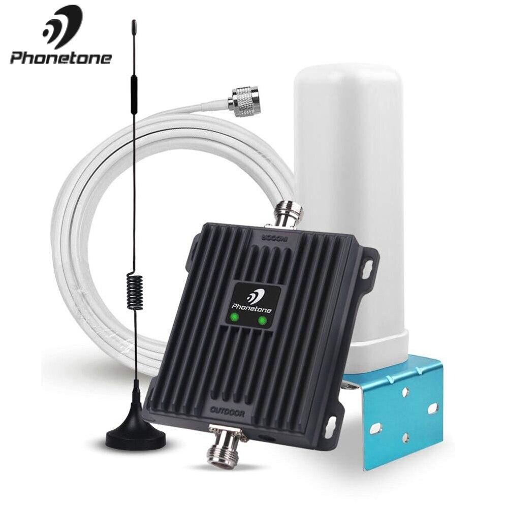 Impulsionador de sinal celular 850/1800 mhz faixa 5/3 2g gsm booster 3g 4g lte gsm repetidor de dados de voz 65db uso doméstico amplificador antena kit
