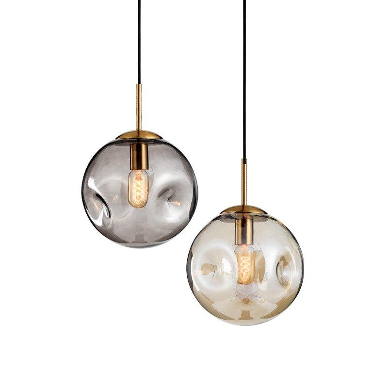 الشمال بار الثريا الزجاج بسيطة الحديثة نوم كشافات الإبداعية مصباح لغرفة المعيشة طاولة طعام زجاجية غرفة المعيشة قلادة