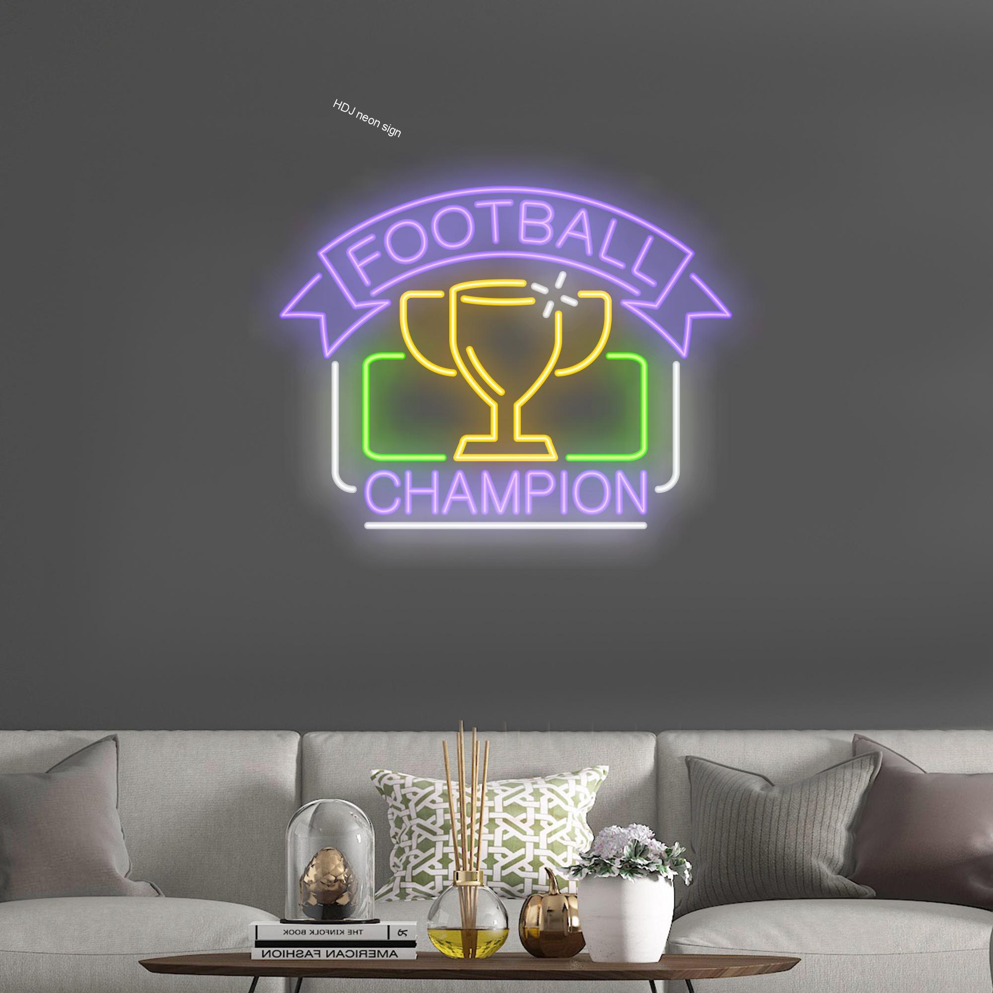 كرة القدم بطل شخصية النيون تسجيل مصباح ليد مناسبة لشريط Celbration الطرف الإبداعية هدية لصديق