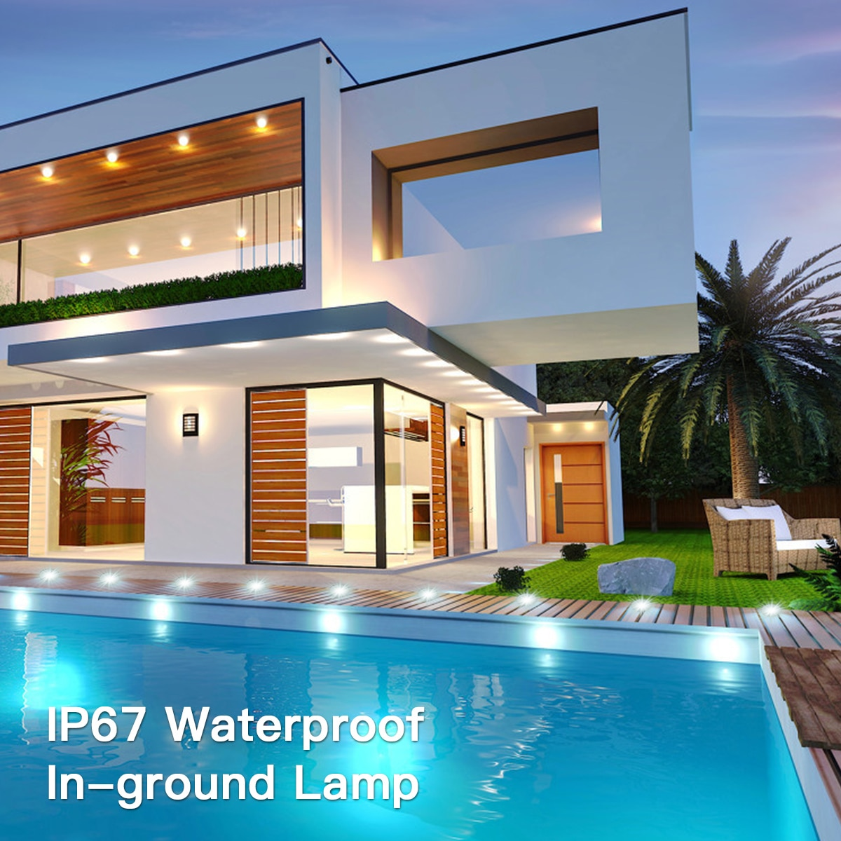 IP67 Waterproof  DC12V Recessed LEDs Deck Lights Outdoor In-ground Lamp Landscape Light for Yard Garden Pathway Stairs Patio enlarge