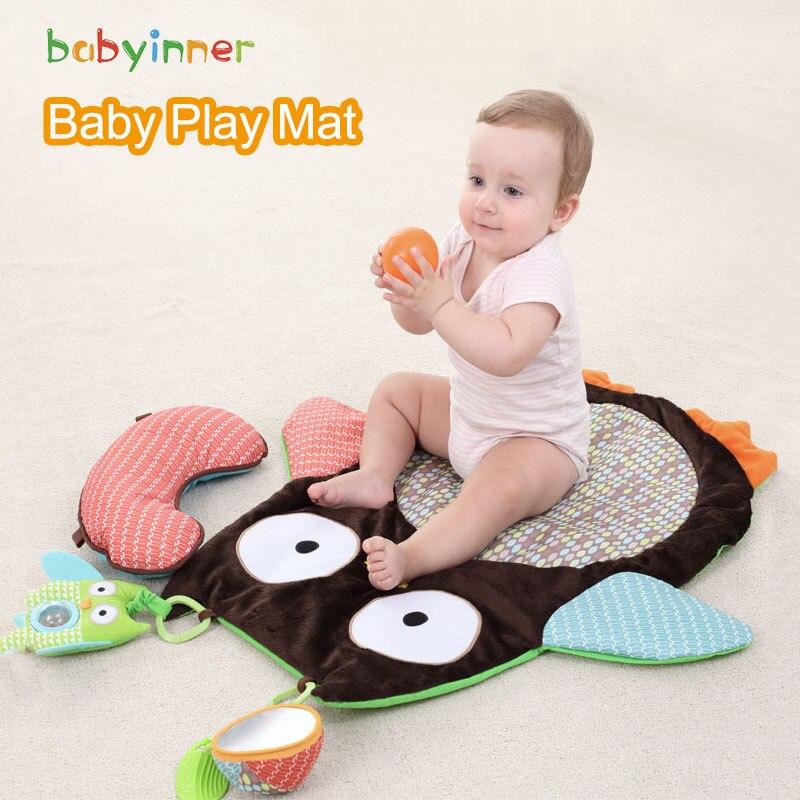 Детские игровые коврики babyinside, красочные Мультяшные коврики с совой, детский коврик для раннего развития, детские коврики, одеяло для полза...