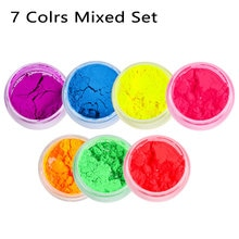 1PC Matte Mineral Powder Eyeshadow Neon Loose Pigment Spangle Nail Powder Shimmer Shiny Eye Shadow W