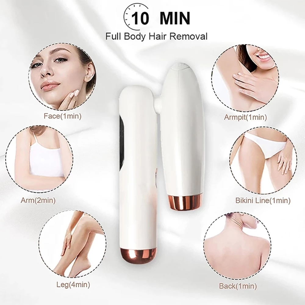 MAXFRESH Laser Epilator  For Women Professional IPL Portable Painless Pulsed Hair Removal Device Light Depilator 990000 Flashes enlarge