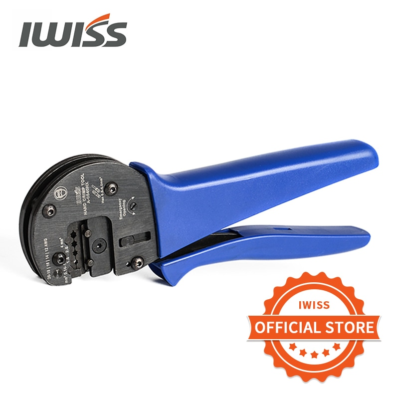 IWISS IWS-0540HX ручной обжимной инструмент для 0,14 мм2-4,0 мм2 (AWG26-12) Harting Han D/E/C разъемы с локатором
