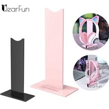 Pink Cat Wireless Headphone Stand Rack Gaming Headset Holder Support Gamer Helmet Hanger Girl Bluetooth Earphone Table Shelf