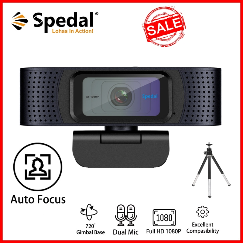 Spedal C928 Webcam 1080P hd 60fps USB Camera Computer PC Laptop Autofocus Webcam With Microphone For Youtube Skype Video spedal 120° wide angle webcam full hd 1080p with tripod usb camera video conference for computer mac pc