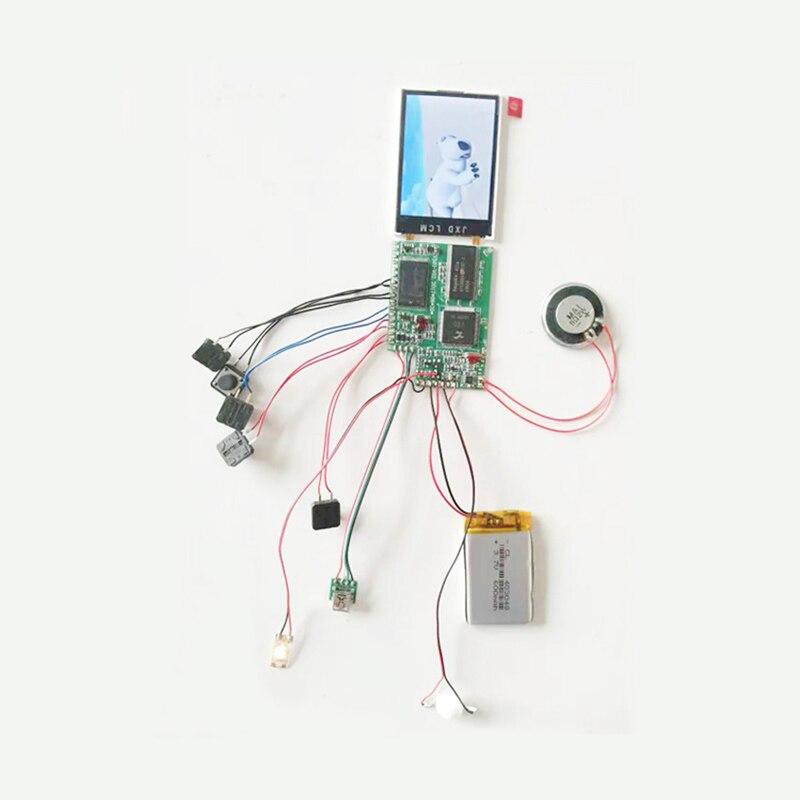 Componente eletrônico do displayer do folheto video do lcd de 2.4 polegadas para o convite mais quente que vende barato lexingdz