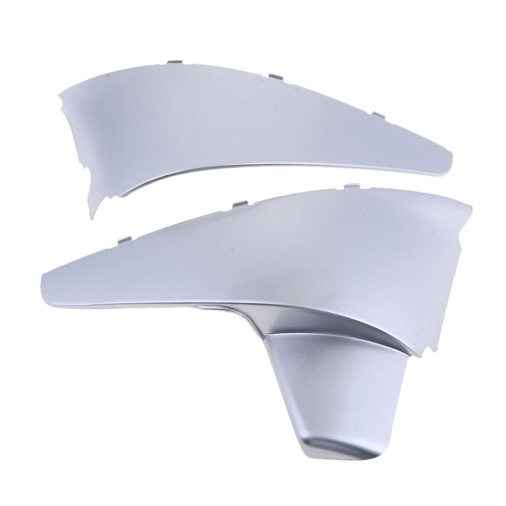 1 زوج البلاستيك البطارية الجانب هدية غطاء لهوندا الظل VLX 600 1988-1998 سلسلة الفضة