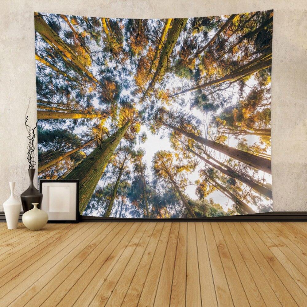 Laeacco психоделические лес гобелен с изображением неба Мандала настенный гобелен хиппи богемное гобелены для Гостиная домашний декор