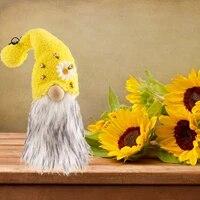 Ornement de poupee sans visage  bourdon  abeille rayee  Gnome  pendentif en peluche  barbe  naine  decoration  Festival dabeille  maison