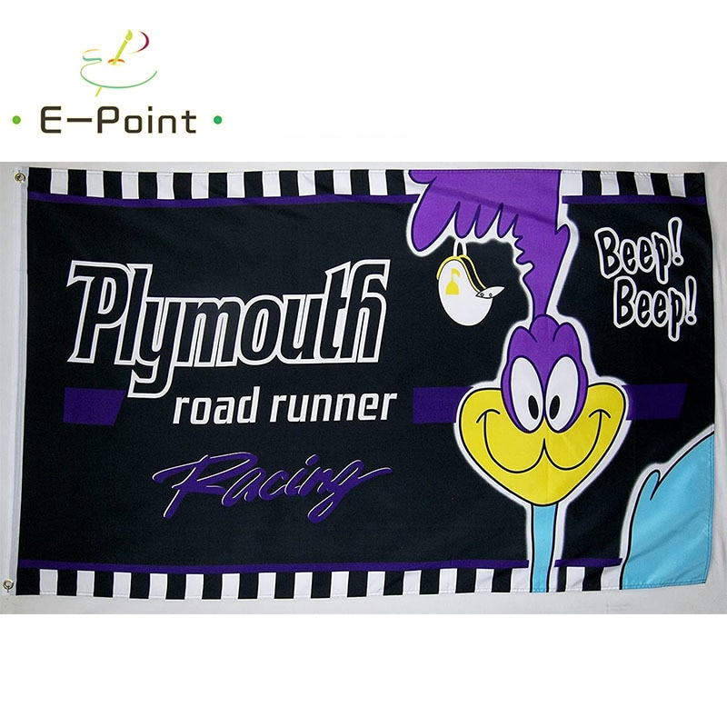 Road Runner Racing Flag 2ft*3ft (60*90cm) 3ft*5ft (90*150cm) Size Christmas Decorations for Home and