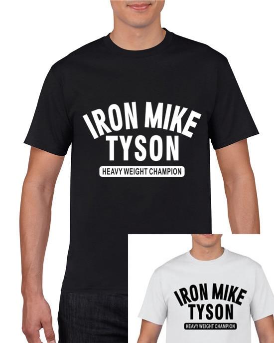 Бесплатная доставка, 100% хлопок, железный микрофон, TYSON, тяжелый, welght champlon логотип, Мужская футболка, размер S до 3XL