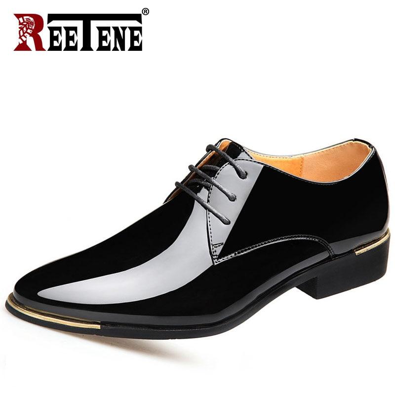 REETENE-Zapatos De Vestir De Punta puntiaguda para Hombre, Zapatos De Vestir De...