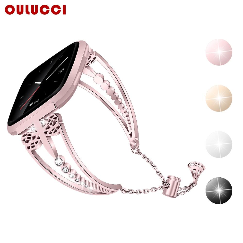 OULUCCI Metal reloj pulsera correa para Fitbit inversa 2 banda pulsera accesorios para fitbit versa2 correa para mujer