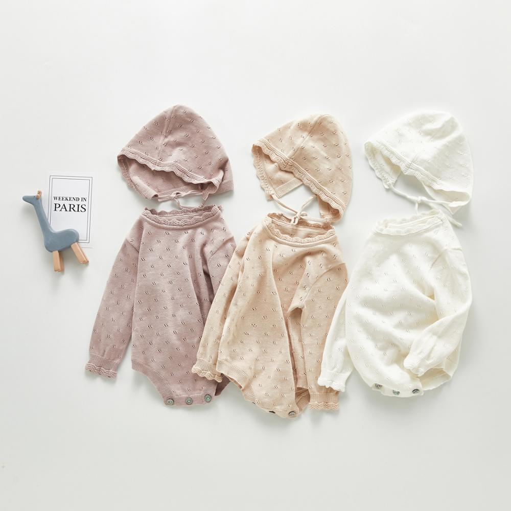Baby Bodysuits Clothes Fashion Solid Color Newborn Boys Girls Knitted Jumpsuits Outfits Autumn Winter Toddler & Infant Body Tops autumn winter chidlren sweaters for newborn baby girls cardigans fashion white long sleeve toddler infant knitted jacket clothes