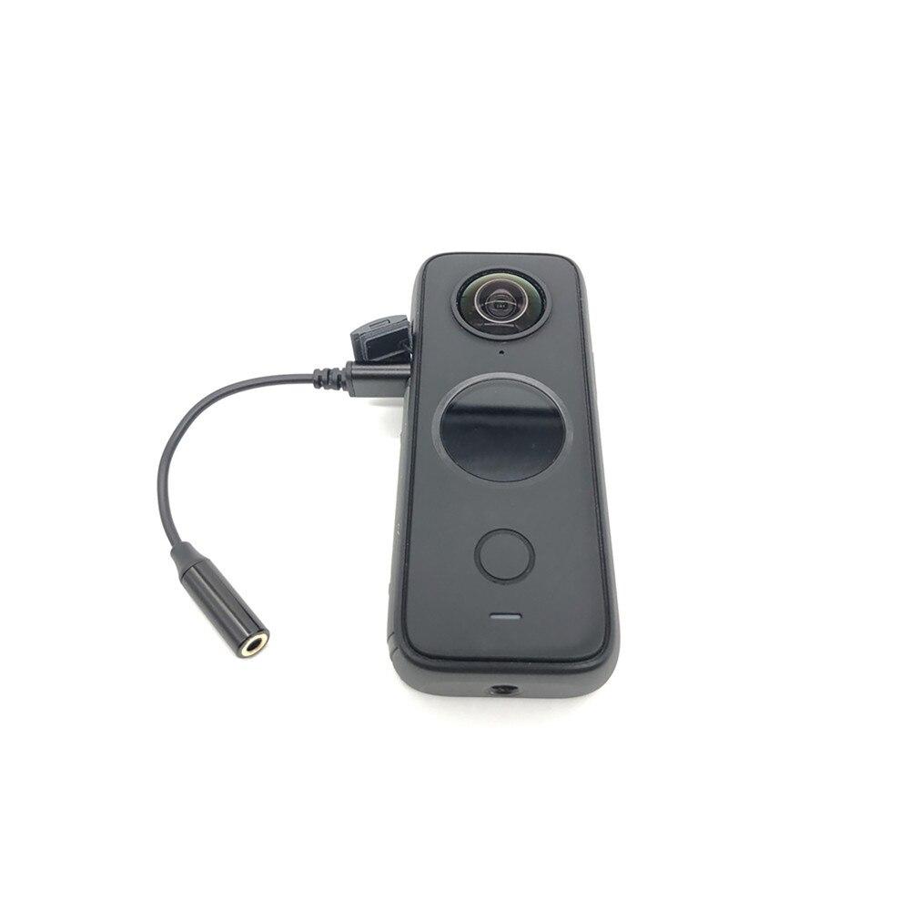 Usado para Tipo-c para Externo Adaptador de Áudio Microfone Adequado x2 3.5mm Insta360 um