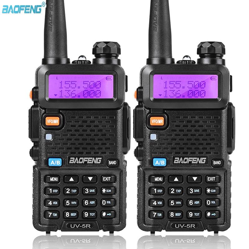 2 قطعة BaoFeng UV-5R اسلكية تخاطب المهنية هام راديو الإرسال والاستقبال المزدوج الفرقة VHF136-174MHZ UHF400-520MHZ اتجاهين راديو