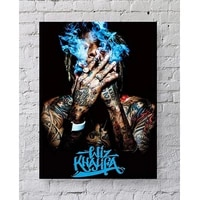 nordic style canvas painting wiz khalifa smoke pictures artwork modular home wall decoration prints poster living room framework