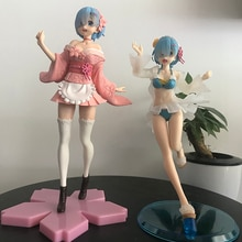 Figurines Re Zero Life In A Different World From Zero Anime, jouets, mémoire, Rem, Ram, maillot de bain, Image Sakura, jouets daction